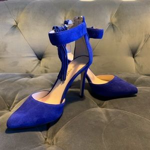Nine West Blue Suede High Heels